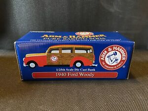 Arm & Hammer Commemorative 1940 Ford Woody Die Cast Vehicle BANK #1