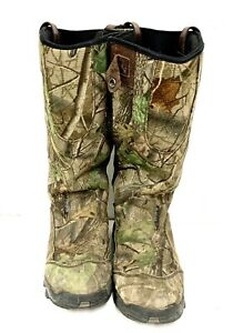Irish Setter Red Wing  Snow Zipper Camo Hunting Boots Size 11-1/2 D