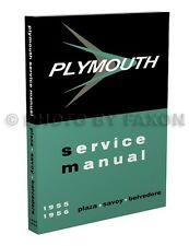 1955-1956 Plymouth Shop Manual Plaza Savoy Belvedere Suburban Repair Service