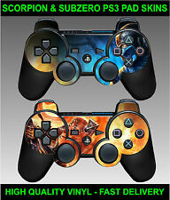 Playstation 3 Controller sticker skins X 2 Scorpion SubZero Style Fire and Ice