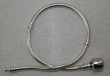925 Argento Sterling Perle Perline Braccialetto 18 cm Charms
