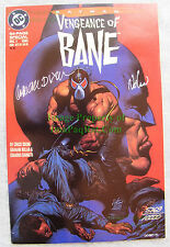 BATMAN VENGEANCE OF BANE #1 Autographed COA Chuck Dixon Graham Nolan UNREAD FLAT