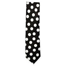 New Black & White Polka Dot Classic NeckTie Elegant Fashionable Neckwear Tie