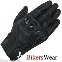 Alpinestars Celer Black Leather Short -Racing Sports Motorcycle/Motorbike Gloves