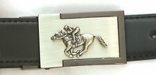 Horse Racing Belt Buckle and Leather Belt in Gift Tin Ideal Hunting Present