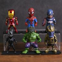 Marvel Avengers Pvc Action Figure s set Iron Man Spider man Captain America Hulk