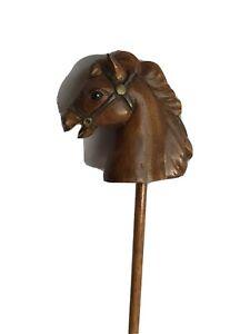 """Vintage Wooden Horse Pogo Stick 12"""" long"""