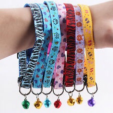 Cute Reflective Cat Collar Safety Buckle Small Dog Puppy Cat Collar with Bell