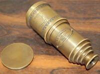 Marine antique victorian telescope maritime nautical brass spyglass christmas