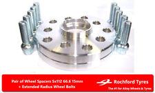 Separadores de Rueda 15 mm (2) 5x112 66.6 + Los Pernos OE para Mercedes Clase C [W203] 00-07