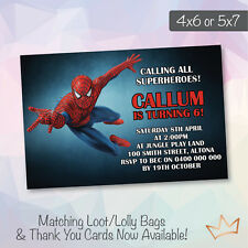 Spiderman Birthday Greeting Invitations Ebay