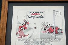 Disney Goofy Victory Vehicles Cartoon Framed Print