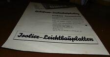 reklame blatt alt gutex holzfaser isolier leicht bau platten  werbung 1949 deko