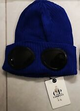 CP Company Beanie Double Goggle Lens Hat Navy Blue New Uk Seller