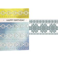 Flower Lace Die Cutting Template DIY Greeting Card Deco Craft Stencils 1x
