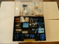 JOB LOT OF ASSORTED PNEUMATIC EQUIPMENT/FITTINGS IN DOUBLE SIDED STORAGE BOX