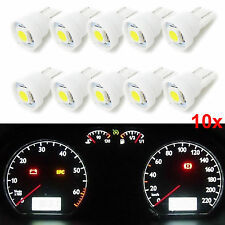10x Pure White T10 W5W Wedge 5050 SMD LED Instrument Panel Light Dashboard Bulbs