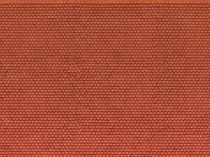 "HO Model Scenery - 56690 - 3D Cardboard Sheet ""Plain Tile"" - Red"