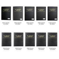 0201/0402/0603/0805/1206 SMD/SMT Capacitor Chip Resistor Samples Book Kit US