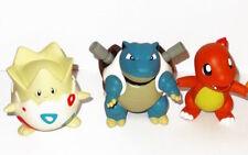 Pokémon Large Tomy Figures 5 inch Togepi, Blastoise, Charmander, Vintage