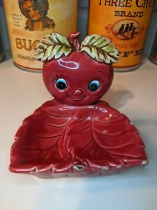 Vintage Enesco Apple Soap Dish E-0303 anthromorphic kitschy
