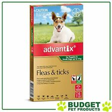 Advantix For Small Dogs Up To 4kg 6 pack