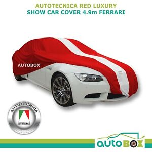 Autotecnica Red Show Car Cover Indoor Classic Prestige fits 4.9m Large Ferrari