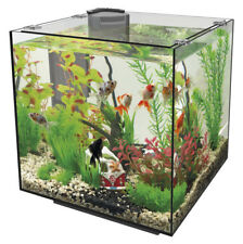 Superfish QubiQ 30 Black - 30L Nano Cube Aquarium Fish Tank Set with Filter
