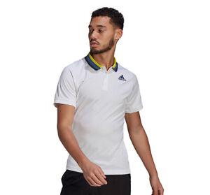 Adidas FreeLift Tee Men's Primeblue Heat.RDY Polo Shirt White GP5736