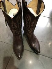 justin boots lizard brown size 6,5
