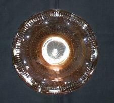VINTAGE Ambra Indiana/Pesca CARNIVAL Glass CANDY/Fruit Dish Piatto Arruffato