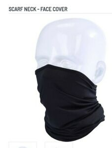 Multi Use Black Snood Face Mask. Lightweight polyester Neck Warmer.