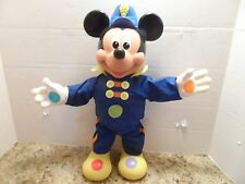1990 MATTEL MICKEY MOUSE DOLL SQUEAKS HAS RUBBER FEET & HANDS VINTAGE