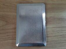 Chrome Finish Lines Design Single Sided Holds 10 Superkings Cigarette Case CA6749