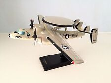 Grumman E-2 Hawkeye USN a detailed mahogany desktop model with a stand