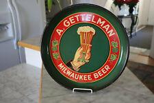 Vintage 1930s A Gettelman Milwaukee Beer Tin Tray