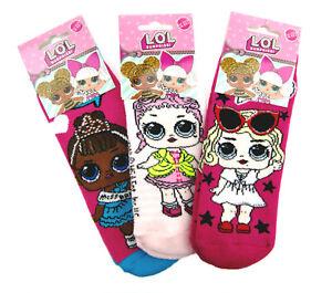 LOL Surprise Dolls Slipper Socks Girls Bed Socks Slippers Anti Slip Grippers