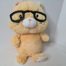 """Get Your Hands on a Ganz Orange Cat Plush with Glasses Spectimals Kitty 14"""" Soft"""