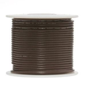 "16 AWG Gauge Stranded Hook Up Wire Brown 100 ft 0.0508"" UL1007 300 Volts"