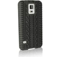 NERO PNEUMATICO BATTISTRADA in Silicone Gel Custodia Cover per Samsung Galaxy S5 i9600