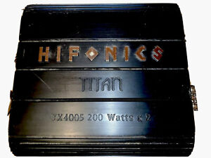 Old School Hifonics Very Rare Titan TX 4005 200 Watts Amplifier X2