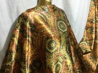 *NEW* L/Weight Smooth Liquid Satin Damask African Print Fabric *FREE P&P*