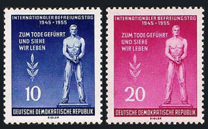 Germany DDR/GDR 236-237, Mint. Monument to the Victims of Fascism, 1955
