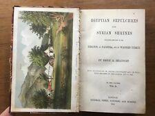 1861 Egyptian Sepulchres & SYRIAN SHRINES Emily Beaufort LADY STRANGFORD Plates