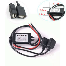 Dual 2 USB DC-DC Car Charger Converter Module 12V To 5V 3A 15W Power Adapter New