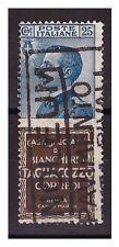 REGNO 1924 - PUBBLICITARI  TAGLIACOZZO  25  Cent. USATO