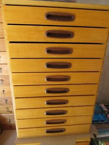 1) 10 Drawer Pine Cabinet Entomology Taxidermy Lepidoptera Butterfly Moth Insect