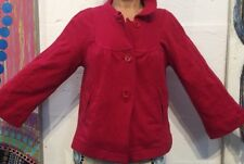 FRENCH CONNECTION Women's Red Cotton Jersey Knit 3/4 Sleeve Jacket Sz 8