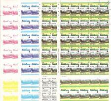 1930 Southern Railway ETON Train Progressive Proof 50-Stamp Sheets x 8 (Imperf)