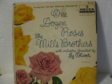 Mills Brothers 45rpm EP2513 One Dozen Roses/3 others 'HiFi' 1957 VG
